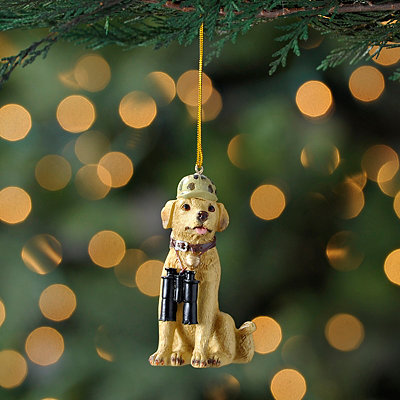 Yellow Lab Hunting Dog Ornament