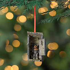 Bear Outhouse Ornament