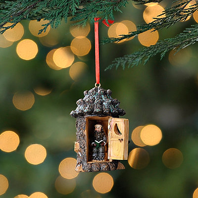 Open Outhouse Ornament