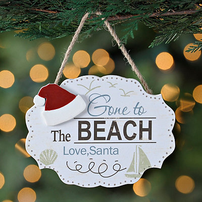 Gone to the Beach Sign Ornament