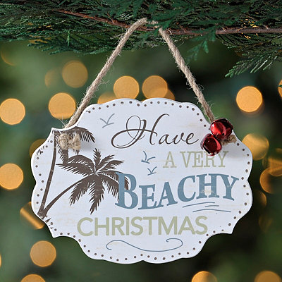 Have a Very Beachy Christmas Sign Ornament