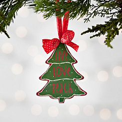 Live Love Teach Christmas Tree Ornament