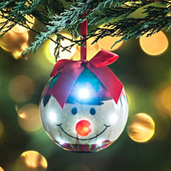 LED Smiling Elf Ornament