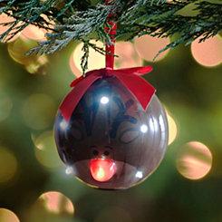 LED Smiling Reindeer Ornament