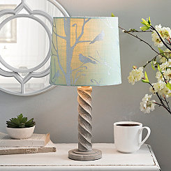 Blue Bird Hardback Lamp Shade