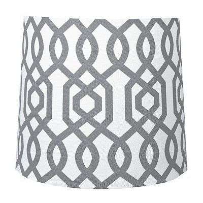 Gray Geometric Hardback Lamp Shade