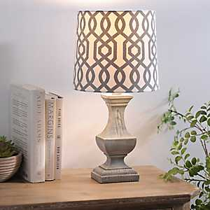 Gray Geometric Hardback Lamp Shade