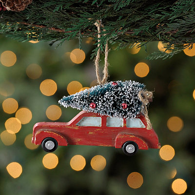 Car Hauling Tree Ornament