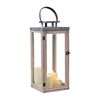 Modern Wood and Metal Lantern