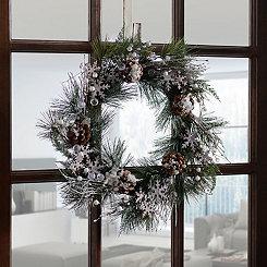 Pine Branch Snowflake Wreath