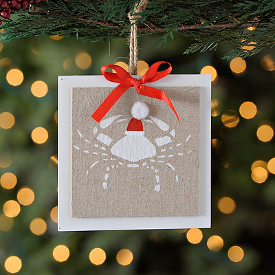 Coastal Crab Linen Ornament