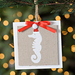 Seahorse Linen Ornament