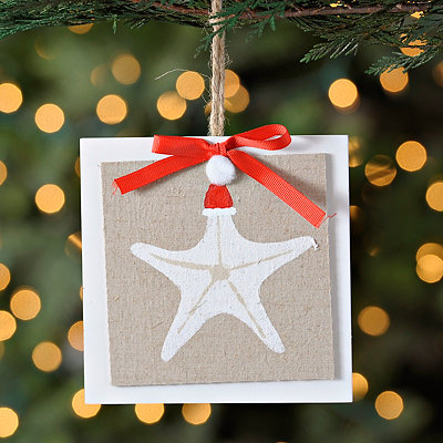 Starfish Linen Ornament