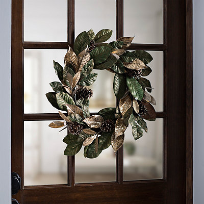 Magnolia Pine Cone Wreath
