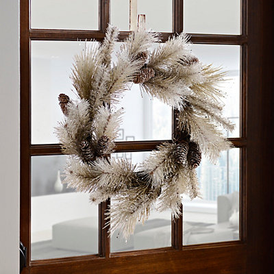 Natural Shimmer Pine Cone Wreath