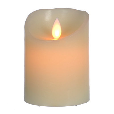 Flickering Flameless LED Candle, 4 in.