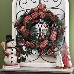 Pine Red Berry Wreath