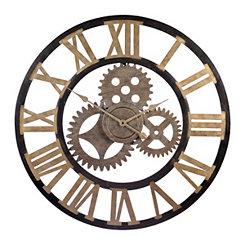 Industrial Gears Cutout Clock