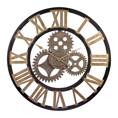 Industrial Gears Cutout Clock