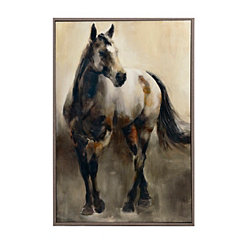Walking Silver Horse Framed Art Print