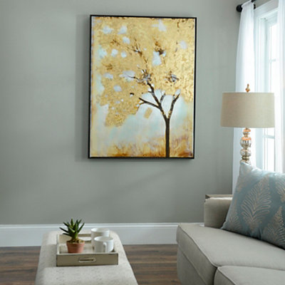 Gold Leafed Tree Framed Art Print