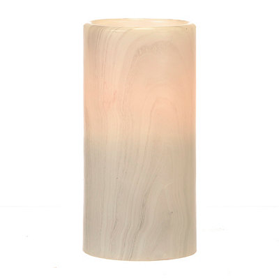 Gray Marble LED Pillar Candle, 6 in.