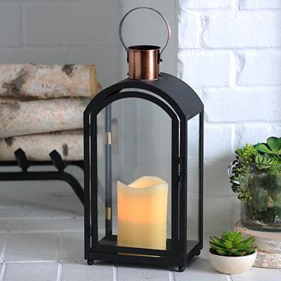Black Arch Metal Lantern