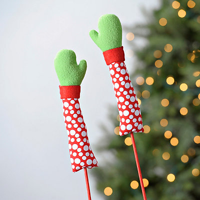 Red Elf Mitten Picks, Set of 2