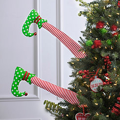Red Stripe Elf Leg Picks, Set of 2