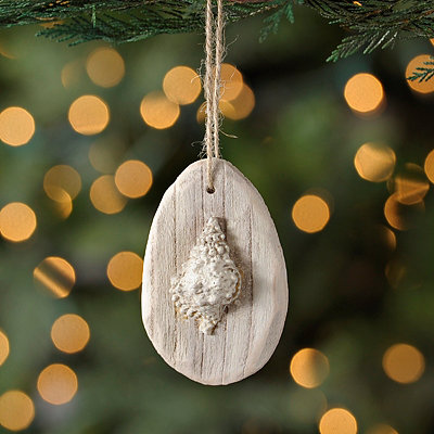 Driftwood Seashell Ornament