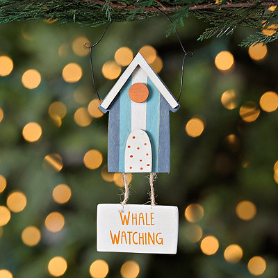 Boat House Hanging Sign Ornament