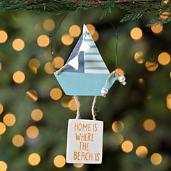 Sailboat Hanging Sign Ornament