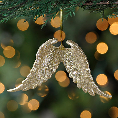 Gold Pair of Angel Wings Ornament