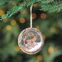 Cork Wild Moose Ornament
