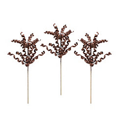 Bronze Spiral Stemmed Picks, Set of 3