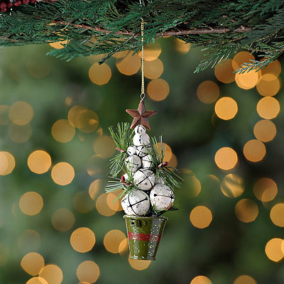 White Bell Tree Ornament