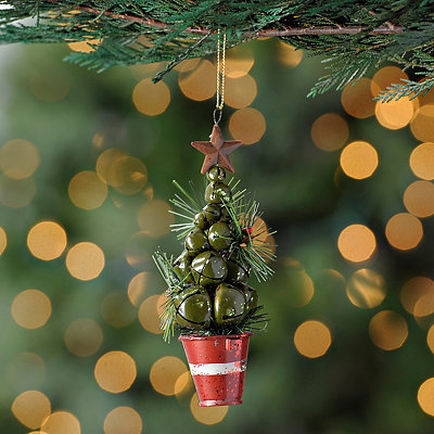 Green Bell Tree Ornament