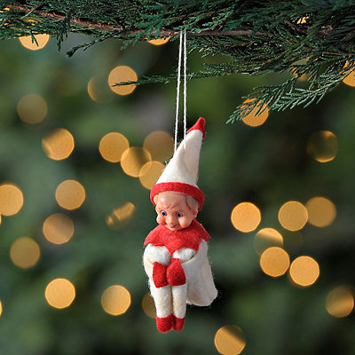 White Classic Elf Ornament