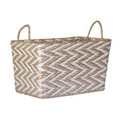 Chevron Woven Paper Basket
