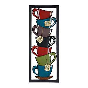 Stacked Coffee Cup Plaque