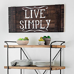 Live Simply Wood Plank Plaque