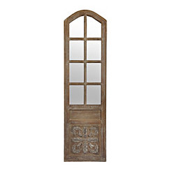 Mirrored Panel Door Wooden Plaque