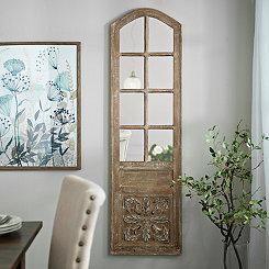 Mirrored Panel Door Wooden Plaque
