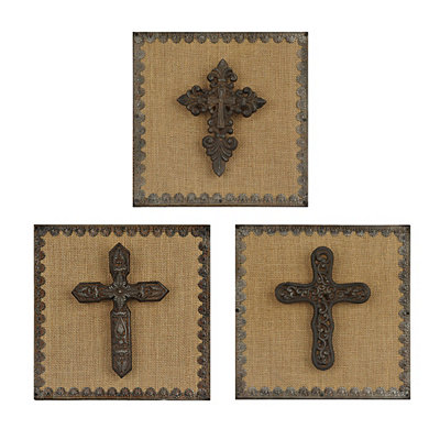 Metal Gothic Cross Plaques