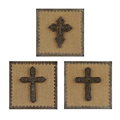 Metal Gothic Cross Plaques