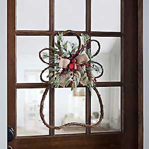 Rattan Angel Bell Wreath