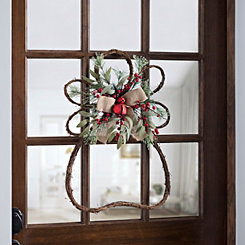 Rattan Angel Bell Wreath
