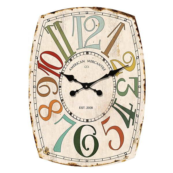 multicolor mercantile wall clock