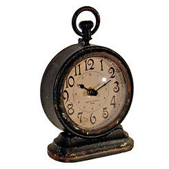 Black Vintage Tabletop Clock