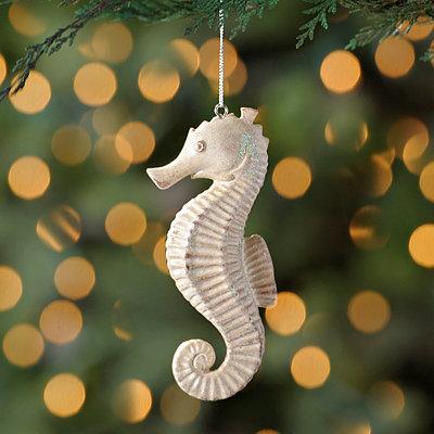 Stone Seahorse Ornament